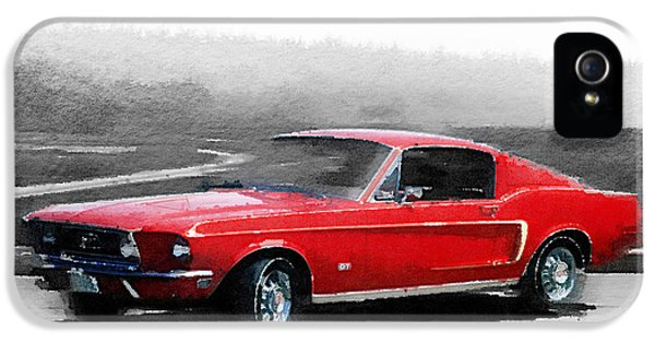 1968 Ford Mustang Watercolor IPhone 5 Case