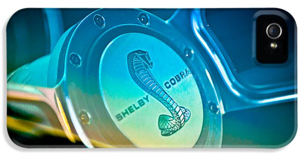 1968 Ford Shelby Cobra Mustang Fastback Steering Wheel IPhone 5 Case by Jill Reger