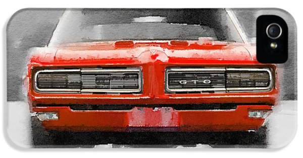 1968 Pontiac Gto Front Watercolor IPhone 5 Case
