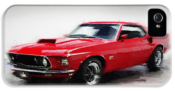 1969 Ford Mustang Watercolor IPhone 5 Case