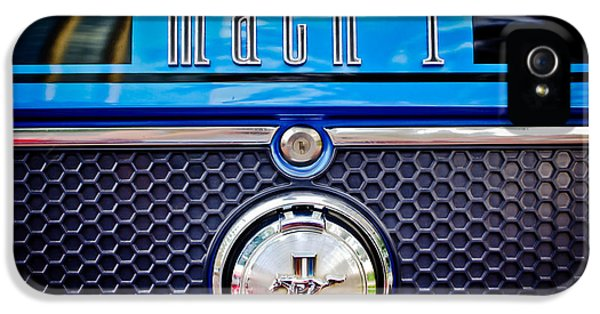 1970 Ford Mustang Gt Mach 1 Emblem IPhone 5 Case