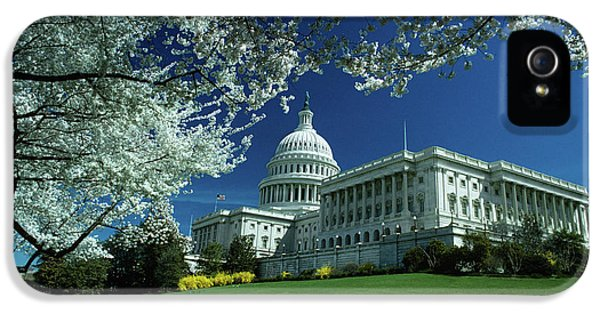 1970s Capitol Building Blossoming Tree IPhone 5 Case