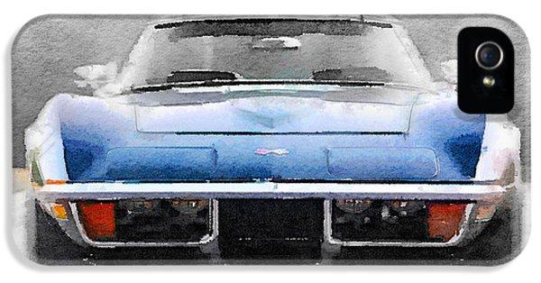 1972 Corvette Front End Watercolor IPhone 5 Case