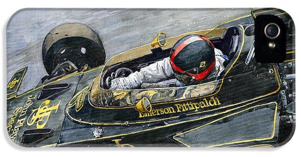 1972 Monaco Gp Emerson Fittipaldi Lotus72 D IPhone 5 Case
