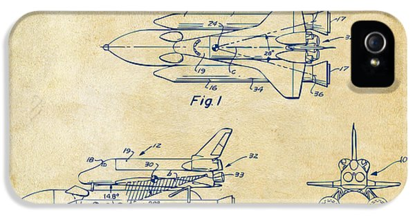 1975 Space Shuttle Patent - Vintage IPhone 5 Case by Nikki Marie Smith