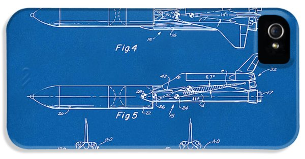 1975 Space Vehicle Patent - Blueprint IPhone 5 Case by Nikki Marie Smith