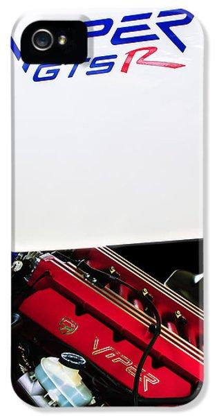 Viper iPhone 5 Case - 1998 Dodge Viper Gts-r Engine by Jill Reger