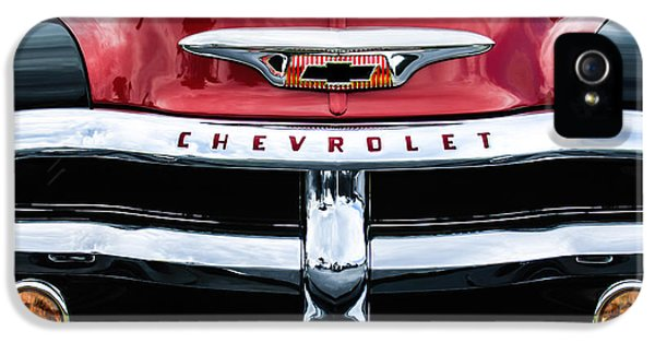 1955 Chevrolet 3100 Pickup Truck Grille Emblem IPhone 5 Case by Jill Reger