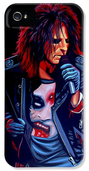 Alice Cooper  IPhone 5 Case by Paul Meijering