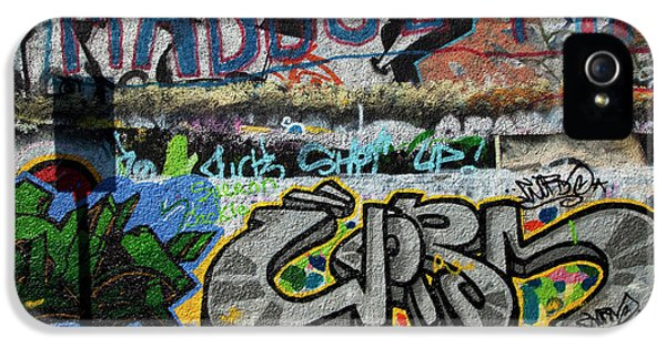 Artistic Graffiti On The U2 Wall IPhone 5 / 5s Case by Panoramic Images