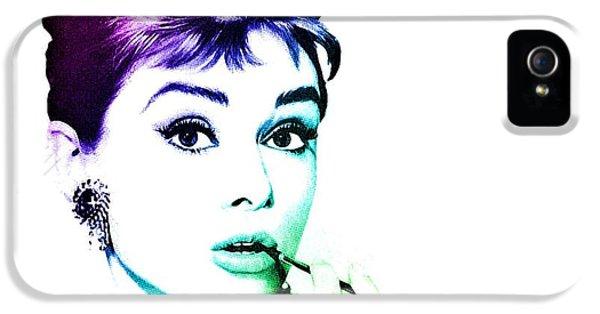 Audrey Hepburn iPhone 5 Case - Audrey Hepburn by Marianna Mills