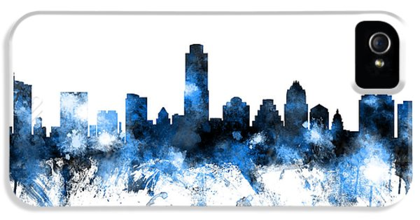Austin Texas Skyline IPhone 5 Case by Michael Tompsett
