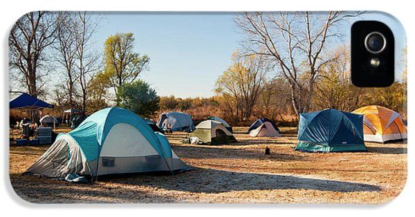 Autumn Camping At Copper Breaks State IPhone 5 Case by Larry Ditto