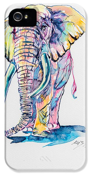 Colorful Elephant IPhone 5 / 5s Case by Kovacs Anna Brigitta