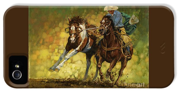Horse iPhone 5 Case - Rodeo Pickup by Don  Langeneckert
