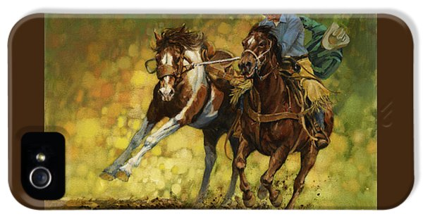 Rodeo Pickup IPhone 5 Case by Don  Langeneckert