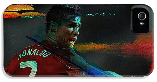Cristiano Ronaldo IPhone 5 Case by Marvin Blaine