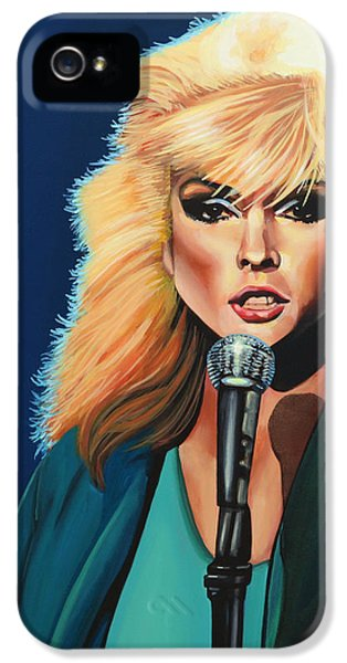 Deborah Harry Or Blondie Painting IPhone 5 Case by Paul Meijering