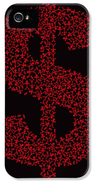 Dollar People Icon IPhone 5 Case by Thisisnotme