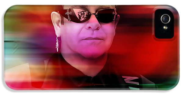 Elton John IPhone 5 Case by Marvin Blaine