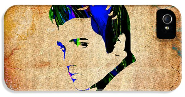 Elvis Presly Wall Art IPhone 5 Case by Marvin Blaine