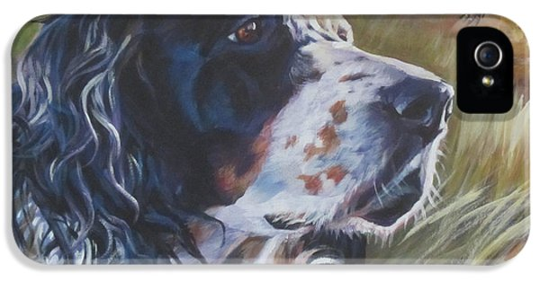 Pheasant iPhone 5 Case - English Setter by Lee Ann Shepard