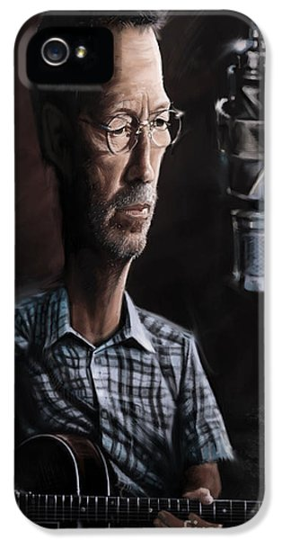 Eric Clapton IPhone 5 Case by Andre Koekemoer