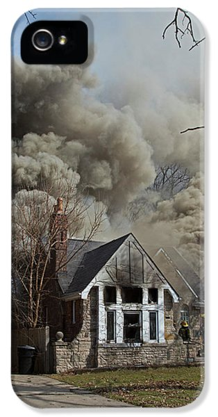Firefighters Attending A House Fire IPhone 5 Case by Jim West