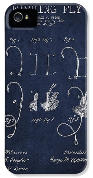 Fishing Fly Patent Drawing From 1892 IPhone 5 Case by Aged Pixel