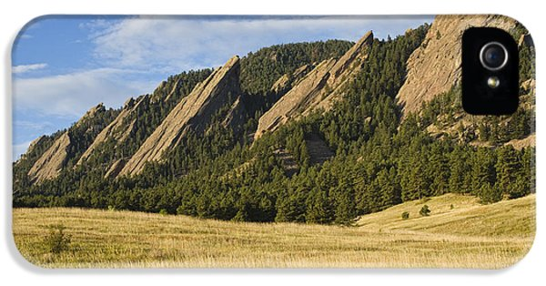 Flatirons With Golden Grass Boulder Colorado IPhone 5 Case