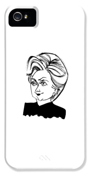 Hillary Clinton iPhone 5 Case - Hillary Clinton by Tom Bachtell