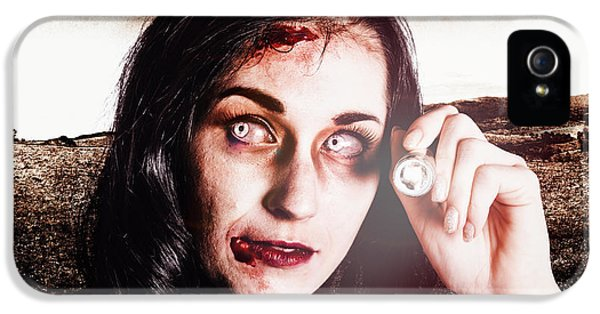 Infected Woman Searching Field During Zombie Apocalypse IPhone 5 Case by Jorgo Photography - Wall Art Gallery