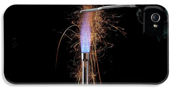 Iron Filings In A Gas Flame IPhone 5 Case