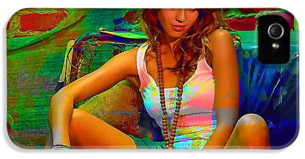 Jessica Alba IPhone 5 Case by Marvin Blaine