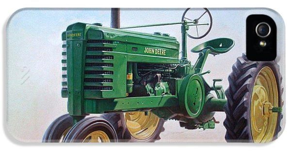 John Deere Tractor IPhone 5 Case by Hans Droog