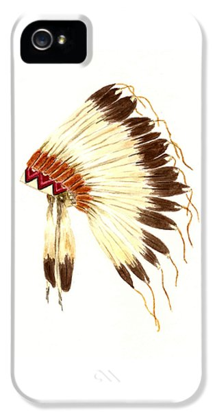 Lakota Headdress IPhone 5 Case by Michael Vigliotti