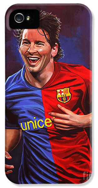 Lionel Messi  IPhone 5 Case by Paul Meijering