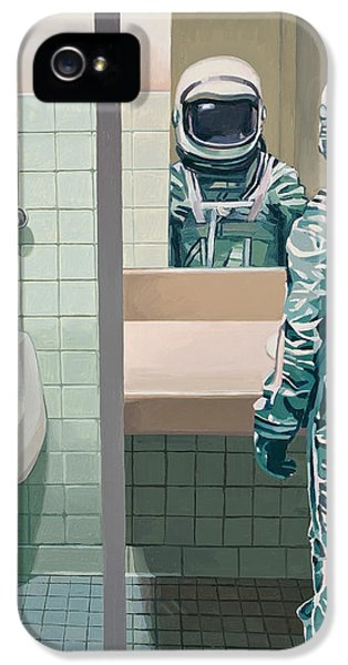 Science Fiction iPhone 5 Case - Men's Room by Scott Listfield