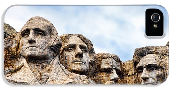 Mount Rushmore Monument IPhone 5 Case by Olivier Le Queinec