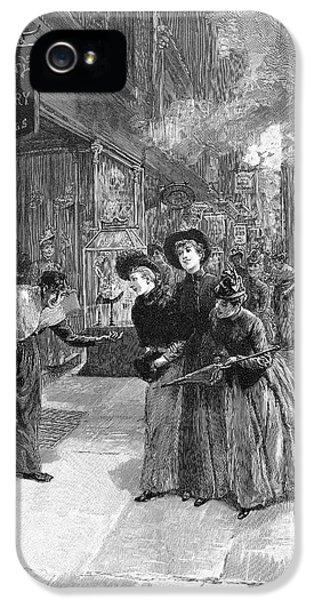 New York Milliner, 1889 IPhone 5 Case by Granger