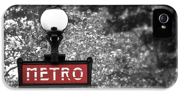 Paris Metro IPhone 5 Case by Elena Elisseeva