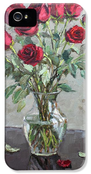 Red Roses IPhone 5 Case by Ylli Haruni
