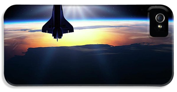 Space Shuttle In Orbit IPhone 5 Case
