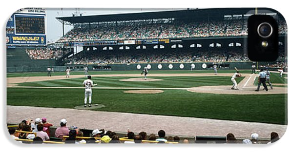 Spectators Watching A Baseball Match IPhone 5 Case by Panoramic Images
