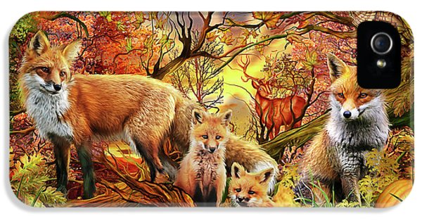 IPhone 5 Case featuring the drawing Spirit Of Autumn by Ciro Marchetti