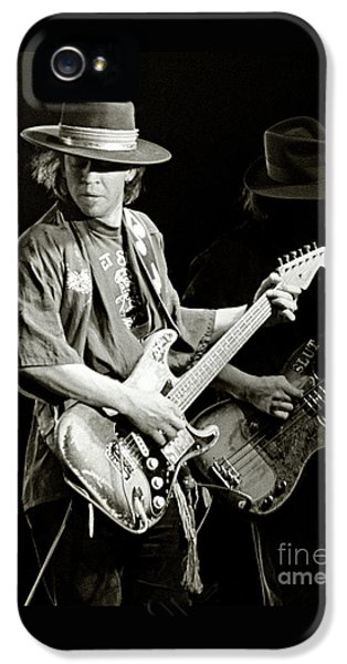 Rock And Roll iPhone 5 Case - Stevie Ray Vaughan 1984 by Chuck Spang