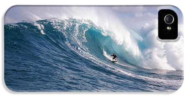 Surfer In The Sea, Maui, Hawaii, Usa IPhone 5 Case by Panoramic Images