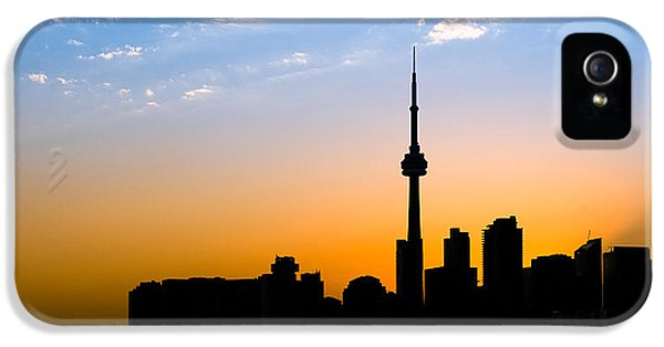 Toronto Skyline IPhone 5 Case by Sebastian Musial