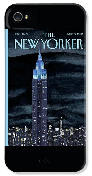 Empire State Building iPhone 5 Case - New Yorker November 19th, 2012 by Mark Ulriksen