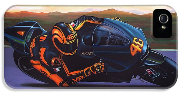 Valentino Rossi On Ducati IPhone 5 Case by Paul Meijering